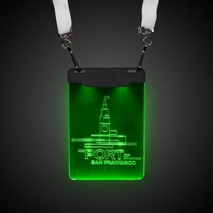Green Sound-Activated LED Badge