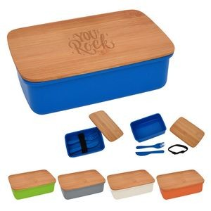Harvest Lunch Set With Bamboo Lid