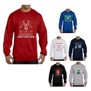 "Champion® Double Dry Eco® Crewneck ""Ugly Sweater"" Sweatshirt"