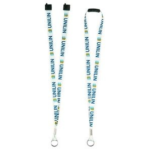 "Recycled Standard 3/4"" Lanyard with Breakaway"