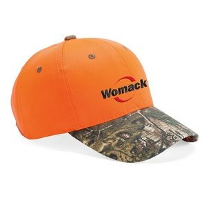 Outdoor Cap Blaze Crown Camo Visor Cap w/ Brown Eyelets