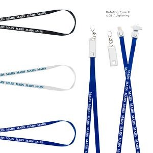 3-in-1 USB Charging Cable Lanyard