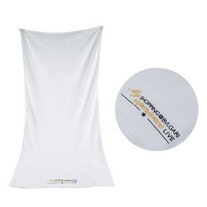 100% Combed Cotton White Promotional Towel